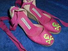 STUBBS & WOOTTON Espadrilles SKULL & CROSSBONES Wedge SHOES  SIZE 6.5 M ITALY.!