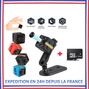 Caméra Espion Vision Nocturne SQ11 Mini Caméra Caméscope HD de Mini DV miniature