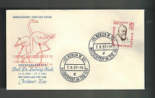 1957 Berlin West Germany First Day Cover # 9NB19 Ludwig Heck Zoo