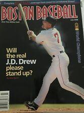 BOSTON BASEBALL MAGAZINE JULY 2008 J.D. DREW - WORLD SERIES CHAMPS!