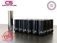 7 SPLINE BLACK LUG NUTS FOR TOYOTA TACOMA   4 RUNNER 12X1.50  24PIECES + 1 KEY