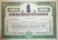 The Gray Manufacturing Company 1958