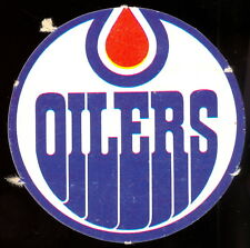1972 73 OPC O PEE CHEE WHA Edmonton Oilers ex-nm Team Logo Insert Punched Emblem