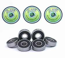 8 X TITANIUM SLIME ABEC 9 608RS Skateboard Scooter Skate & Inline Bearings 11