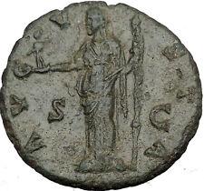 FAUSTINA II Marcus Aurelius Wife Big Ancient Roman Coin Vesta Home Cult  i37316