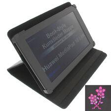 fleur strass poche F.Huawei MediaPad 10 lien tablette style Livre