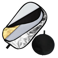 """150x200cm / 60x79"""" 5 in 1 Photo Studio Collapsible Oval Disc Reflector with Bag"""