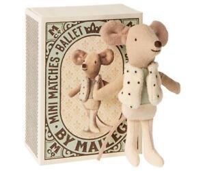 Maileg Mäuse Dancer  Maus kleiner Bruder in Streichholzschachtel Nostalgie Stoff