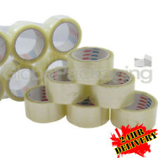 36 Rolls Of CLEAR LOW NOISE Packing Tape 48mm x 66M