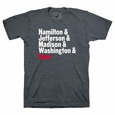 NEW Hamilton Broadway Musical OFFICIAL T TEE SHIRT MENS L Presidents Graphic