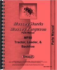 Massey Ferguson 60 Tractor Loader Backhoe Parts Manual