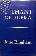 June Bingham, U Thant of Burma, Good Condition Book, ISBN