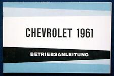 Owner's Manual * Betriebsanleitung 1961 Chevrolet (D)