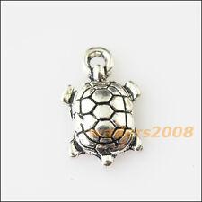 25 New Tiny Animal Tortoise Turtle Tibetan Silver Tone Charms Pendants 9x14.5mm
