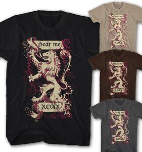 ★Herren T-shirt Lennister Game of Thrones Hear me Roar TV Movie Serie HR1112★