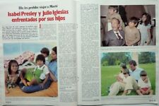 JULIO, CHAVELI & ENRIQUE IGLESIAS: 2 PAGES 1982 SPANISH CLIPPING (FREE Shipping