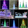 Light up Acrylic LED Christmas Table Tree Ornament Xmas Window Light Decoration