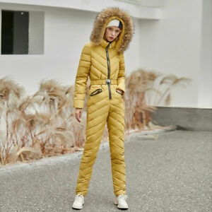 Women's Winter One-Piece Jacket Suit Thick Fashion Slim Slimming Ski Suit