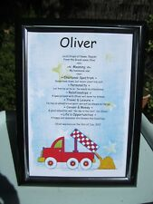 AUSTRALIAN MADE NAME MEANING CERTIFICATE Christening:Naming Day:Baby GIRL or BOY