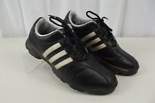 Adidas Mens Golf Shoes 10.5 Black Lace Up Leather