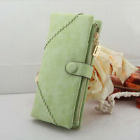 Fashion Women Leather Wallet Button Clutch Purse Lady Long Handbag Bag Best