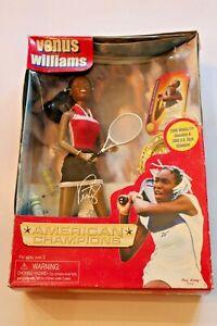 Venus Williams American Tennis Champion Doll Vintage 2001 Play Along Toys MIV