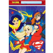 Super Hero Girls Birthday Party Supplies Loot Lolly Bags - Pack 8