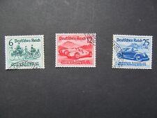 DR Nr. 686-688, 1939, Automobil Ausstellung, gestempelt
