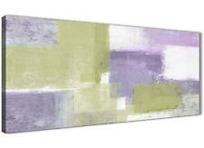 Lime Verde Viola astratto dipinto su tela Art Print-moderno larghezza 120 cm - 1364