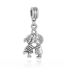 Boys and girls Silver Charm Beads Fit sterling Bracelet Pendant Necklace #MW351