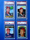 1969-1970-1971-1972 Topps - Ted Williams - PSA 7.0 / 6.0 / 6.0 / 6.0 (Manager)