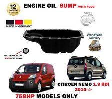 PER CITROEN NEMO + Furgone 1.3 HDi 2010> NUOVO MOTORE olio carter umido