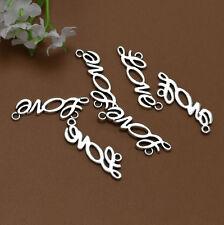 "Wholesale 16pcs Tibet Silver English ""LOVE"" Charm Pendant Beaded Jewelry 136"