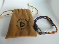 Gentleman Collective Tan Leather Cord Wrapped Bracelet Men's RP $25