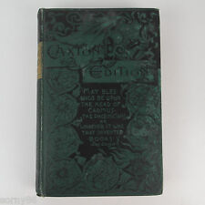 "1887 Tom Brown's ""School Days"" Caxton Ed. Antique Book by Thomas Hughes"