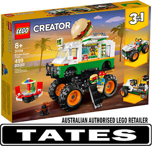 LEGO 31104 Monster Burger Truck  - Creator  3-in-1 from Tates Toyworld