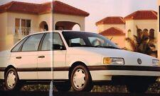 Lrg. 1992 Volkswagen VW PASSAT Brochure / Catalog with Color Chart: CL,GL,Wagon,