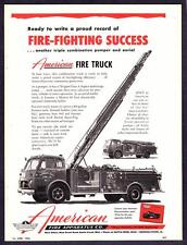 1956 Garden City Pumper & Areial Triple Combo photo Americam Fire Truck print ad