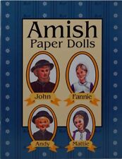 "Amish Paper Dolls Book 5-1/2"" x 8-1/2"" 10 pages 4 Dolls in color Usa Made"
