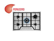 PIANO COTTURA A GAS INOX 75CM COMANDI FRONTALI 5 FUOCHI KGS7536SX REX ELECTROLUX