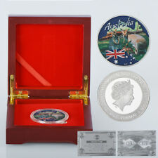 WR 2017 Australia Kangaroo Queen $1 Coin /w Wooden Case 80th 90th Birthday Gifts