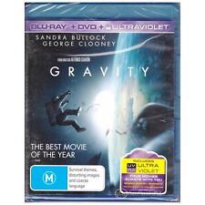 BLU-RAY GRAVITY Bullock 2-DISC SET BR+DVD+ULTRAVIOLET UV Thriller REGION B [BNS]