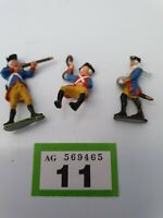 Three  Anquie Vintage LEAD maybe FRENCH  SOLDIERs FIGURES, 2 soilders,1 horseman
