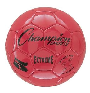 Champion Sports Extreme Soft Touch Butyl Bladder Soccer Ball, Size 5, Red