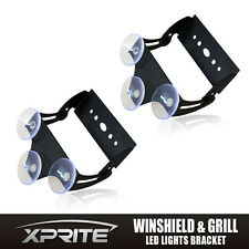 Xprite Strobe Traffic Advisor LED Light Bar Bracket with Suction Cups-2PCS
