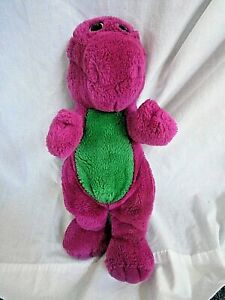 "Original BARNEY Plush 14"" Purple Dinosaur 1992"
