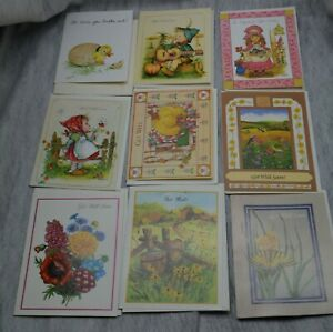Lot of 16 Vintage Get Well Greeting Cards USA Made Envelopes Mixed themes