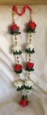 indian bollywood (asian) wedding Hajj Umrah Etc Flowers garland red and ivory