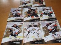2017-18 Upper Deck MVP Team Set-Anaheim Ducks -9 cards-Base+sp ryan kesler