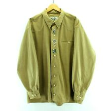 1d0faaeb10c49 Vintage Western Shirt In Beige Embrioned Birds Size 2XL Hunting Shirt CD1824